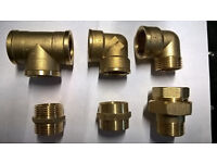 PLUMBING ARTICLES. BRASS, COPPER MDPE FITTINGS WHOLESALE NEW
