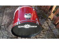 Gear4Music Red Drum Kit