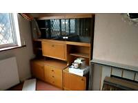Free house furniture - display cabinet, drawers, cupboard, folding table and chairs