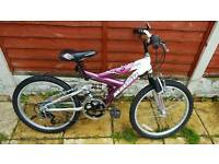 Fantastic girls 24inch dual suspension mountain bike in excelllent condition all fully working
