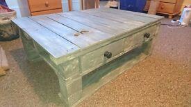 Handmade, unique pallet coffee table