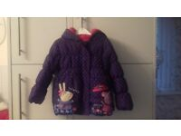 peppa pig coat and gloves