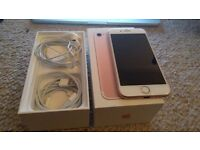 iPhone 7 / 32GB / ROSE GOLD / EXCELLENT CONDITION /APPLE RECEIPT / BOXED WITH ACCESSORIES / UNLOCKED