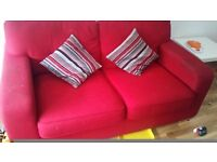 DFS red sofa bed