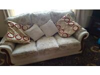 Sofa and two chairs for sale.