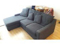 Lovely dark grey corner sofa