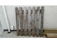 Garden gate £10.00 hight 47 in width 42 inch needs a coat of paint but solid.