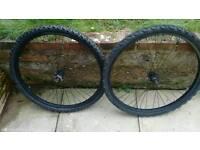 "26"" mountain bike wheels disc compatable"