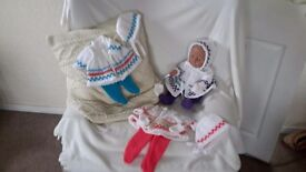 Hand Knitted Dolls Clothes (NEW )