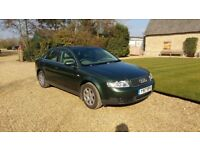 Audi A4 2Ltr Petrol. Gorgeous Dark Olive Green metallic paint. Leather beige seats, MOT till June.