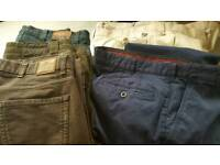 *BARGAIN BAG* 11 X Pairs of Mens Trouser all new or rarely worn. Size 38/Short