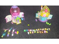 Squinkies set including 30 squinkies, 2 houses and furniture