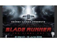 4x secret cinema - blade runner tickets Saturday 31st March