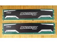 Crucial Ballistix Sport 8GB DDR3 RAM (2 x 4GB) 1600MHz - tested, works perfectly