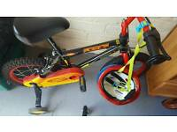 Boys bicycle with stabilisers