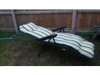 Garden chair reclines