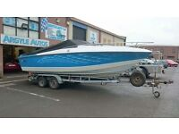Speed boat with trailer