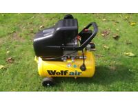 Wolf Air Sioux 24 Litre 2.5HP Induction Motor, 9.5CFM 116psi Air Compressor