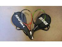 2 Tennis rackets (1 Prince + 1 Head)
