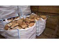 Firewood Hardwood Fire wood seasoned/dried Hardwood for sale in cubic-meter bags £65 per bags.