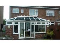 Used white upvc conservatory