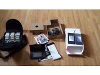 Nintendo DS Lite black VGC With 6 Games, Console,bag case, manual
