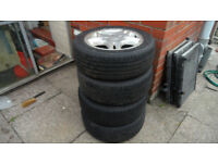 citroen peugeot alloy wheels 4 of with good tyres