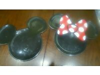 Micky & Minnie mouse plates