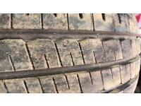 4x 225/70/15 tyres on rims like new