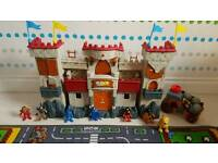 Imaginext castle and figures