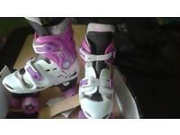 Osprey adjustable roller boots quad skates size 3 - 5