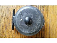 """Vintage 'Hardy's' fly reel 'The Uniqua' 3 1/4"""" very rare - good condition for year 1920s I believe."""