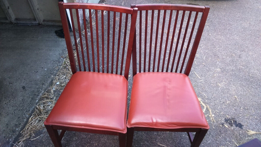 For sale 2x solid wood and leather seatsin Cricklewood, LondonGumtree - For sale 2x solid wood and leather seats very expensive when new £30 for both for can deliver locally for free or further out for a small fee please call Alex on 07847517764 if interested if advert is still up its still available