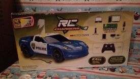 Remote Control Police Corvette Rc Car Inc USB Charger New Bright