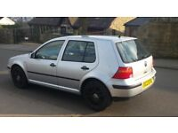 VW Golf 2002 1.9 SDI E Silver with black VW Alloys Private Plate inc BARGAIN!