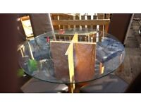 Glass top dining table and 4 chairs very good condition