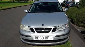 Silver Saab 9-3 series 2l, 4 door automatic ONO