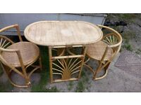 2 SEATER WICKER TABLE SET FOR CONSERVATORY/GARDEN