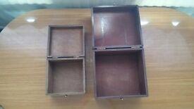 wooden storage box (x2)