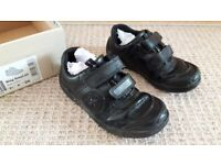 Boys black school shoes 8 1/2 F
