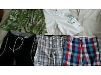 "Bundle of 5 pairs of boys/men's varied shorts 32"""