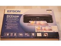 Epson Stylus SX235W All-in-One Inkjet Printer With Ink!