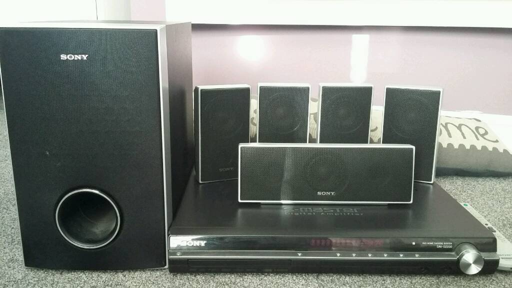 SONY Home entertainment system and DVD player