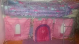 Child's Single Cabin Bed with Princess Curtains