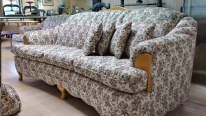 Couch, chair, and love seat
