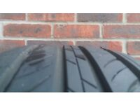 Sunew tyres 2x 215/55/16R Like New