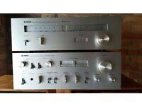 Yamaha CA-610 Vintage Stereo Amplifier + Yamaha Stereo Tuner CT-410