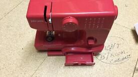 John Lewis mini sewing machine Red