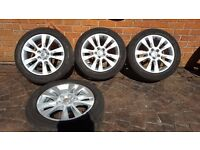 "GENUINE OEM ALLOY WHEELS VW SEAT 17"" SHARAN ALHAMBRA AUDI A6 A4 225 50 17 7N5601025B KOSTA"