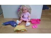Long hair doll, with a second set of clothes